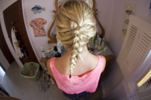 beautiful, blonde, braid, california, cool, girl, hair, photography, pink, pretty, room, summer, swag, tshirt