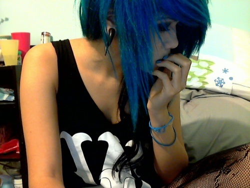beautiful, blue, blue hair, cute, fashion girl