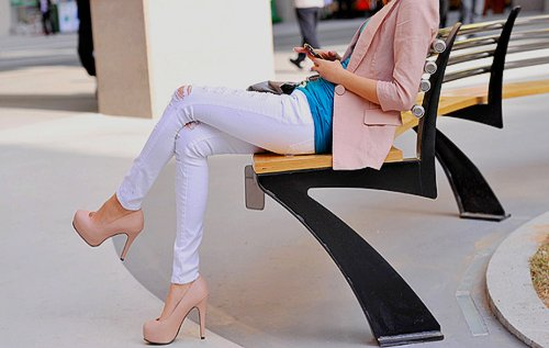 beautiful, blue, clothes, fashion, heels