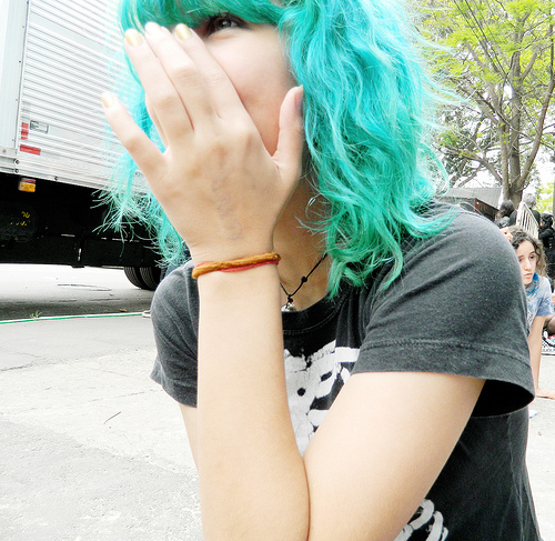 beautiful, blue, color, funny, hair