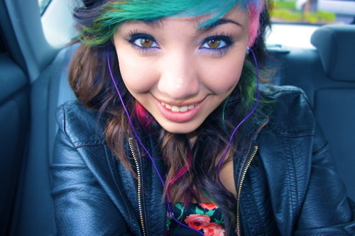beautiful, blue hair, color, color hair, colord hair