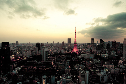 beautiful, buildings, city, japan, photography, sky, skyline, tokyo tower, towers