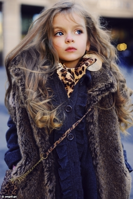 beautiful, curls, curly hair, doll, fashion, fur, girl, hair, little girl, style, youngfashion girl