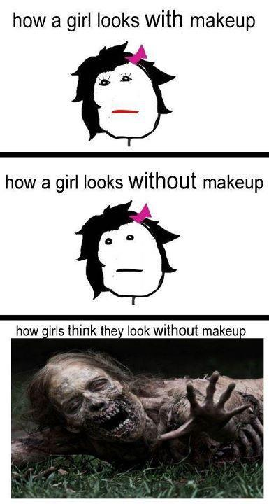 beautiful, cute, drawing, funny, horrible, lol, make up, pretty, scary, ugly, zombie