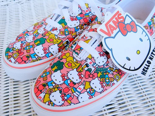 beautiful, cute, fashion, hello kitty, kitty, love, pink, pretty, she will be loved, vans