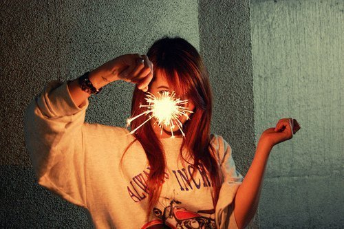 beautiful, cute, fireworks, girl, hair