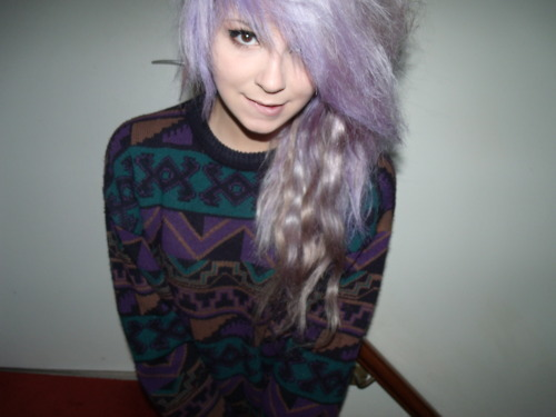 beautiful, cute, girl, hair, long, long hair, photo, photograph, photography, pretty, purple, purple hair
