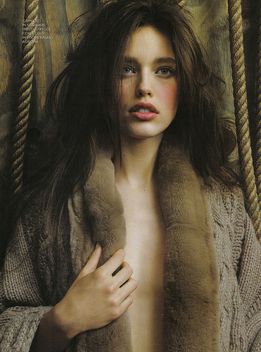 beauty, brunette, emily didonato, eyes, fashion, hair, lips, make up, model, sweater