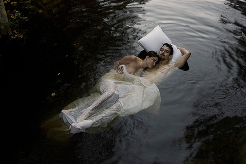 bed, couple, cute, dream, dreams, love, photography, pillow, sleep, water