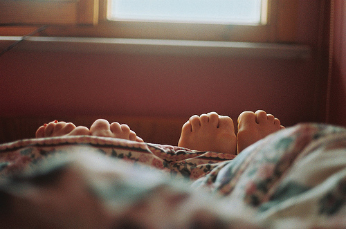 bed, couple, friends, love, toes