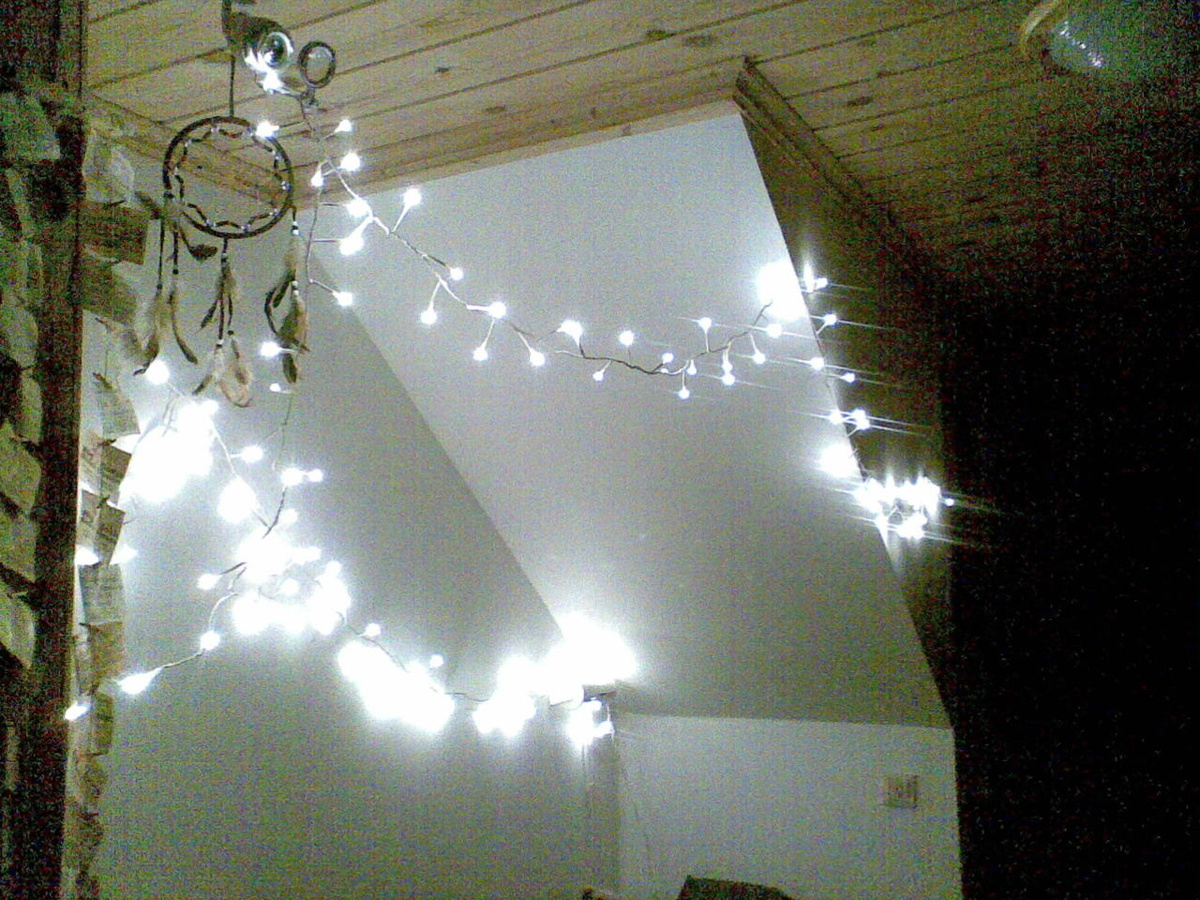 white string lights for bedroom images