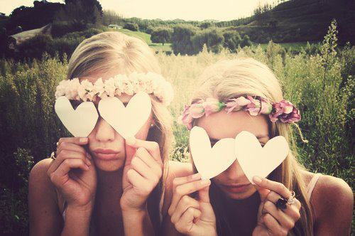 best friends, blonde, crazy, cute, field