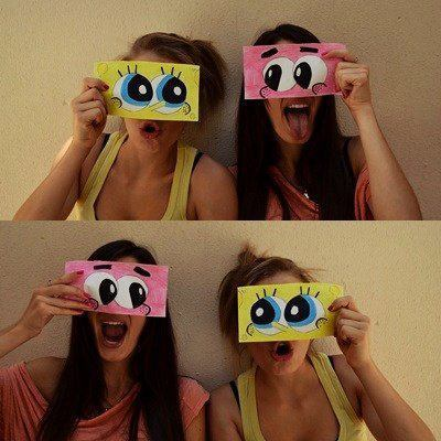best friends, crazy, girl, patrick star, spongebob