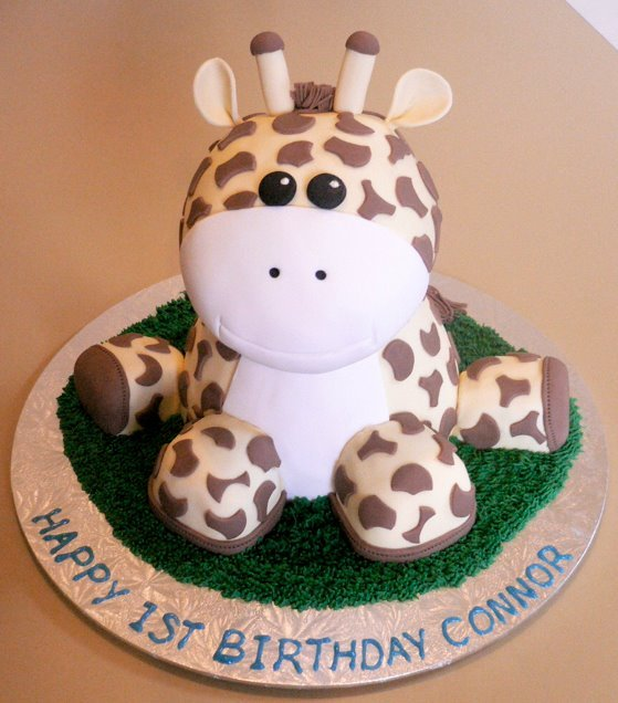 birthday, cake, cake decoration, candy, giraffe
