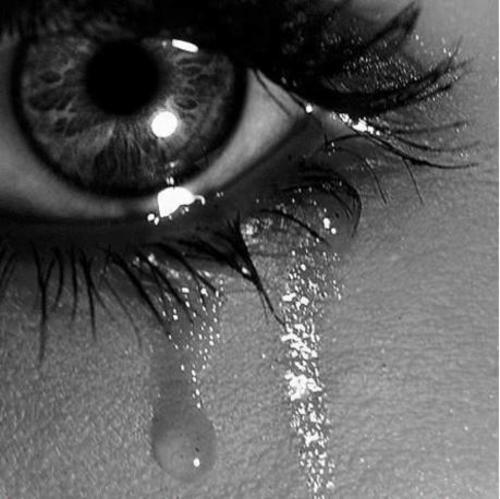 Black And White  Crying  Eye  Girl