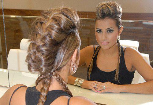 black and white, cute, eye, eye shadow, eyes, face, fashion, girl, hair, hairstyle, hot, makeup, pretty, sequins, style