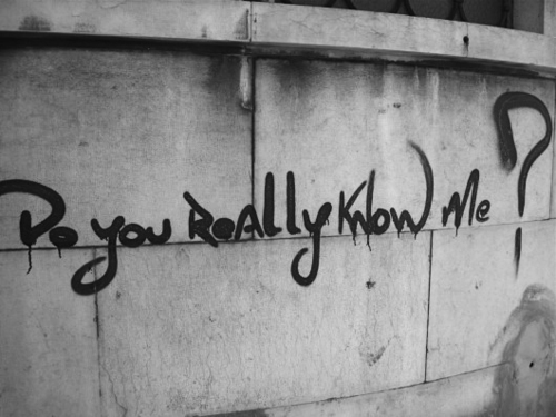 black and white, graffiti, know, question, really