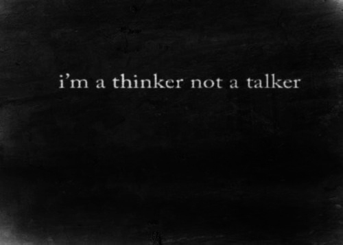 black, black & white, black and white, grey, lonely, photo, photography, pretty, quotes, text, thinker, white