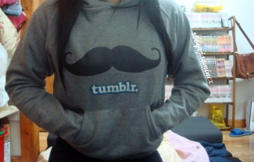 black, blue, cool, gray, hoodie, mustache