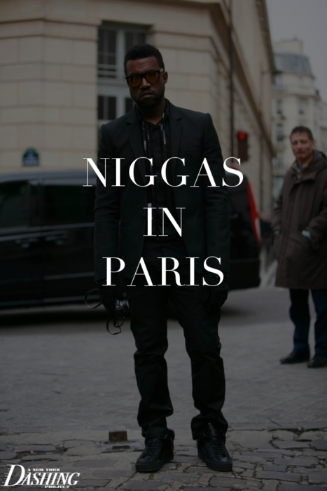 black, kanye west, niggas, paris, swag