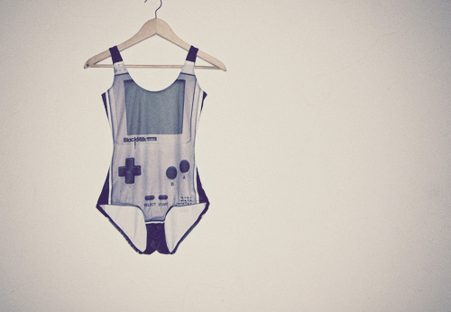 black milk clothing, fashion, game boy, gameboy, gameboy swimsuit, swimsuit