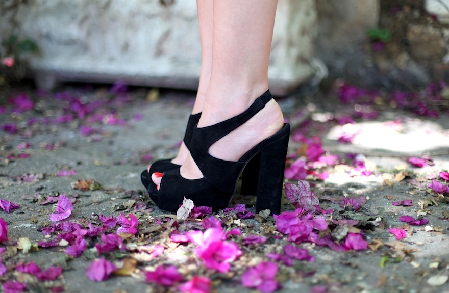 black shoes, fashion, flower, flowers, heels