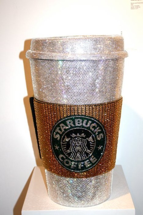 bling, coffee, colours, cool, costa, cute, divo, encrusted, glitter, glittery, green, mug, pretty, silver, starbucks, travel mug