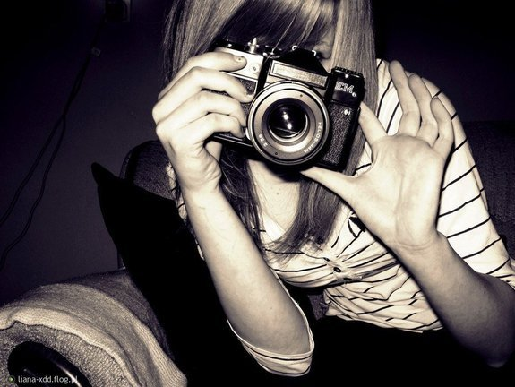 blond hair, camera, cute, girl, photography