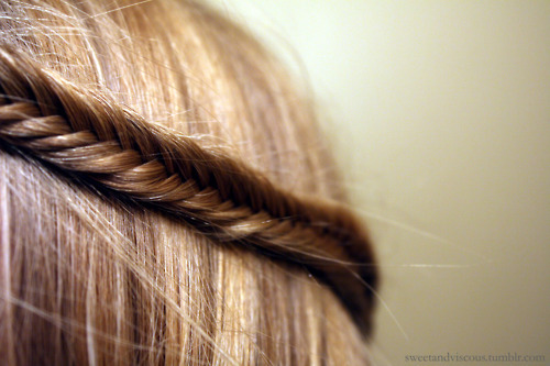 blonde, braid, fishtail, fishtail plait, hair