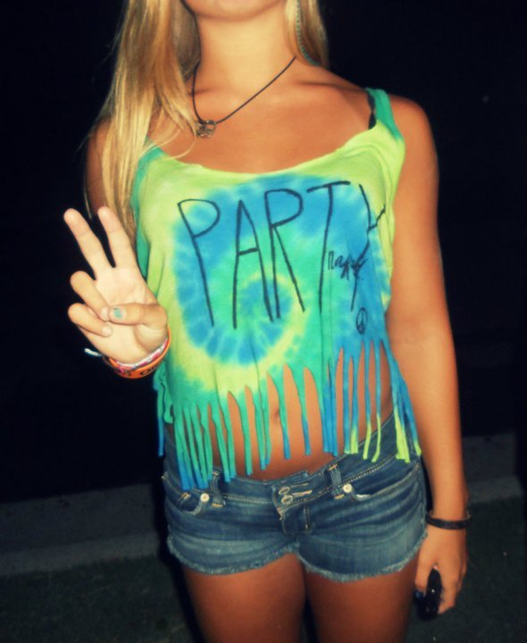 blonde, clothes, girl, party, peace