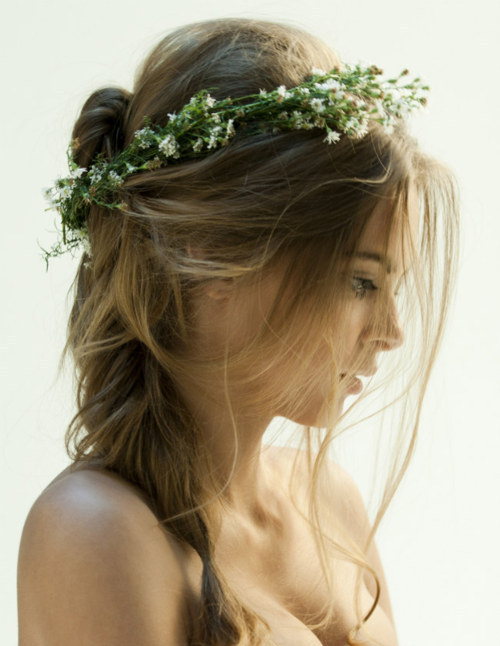 blonde, cute, feminine, flowers, girl, hairs, pretty