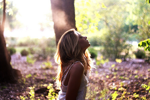 blonde, fashion, forest, girl, nature