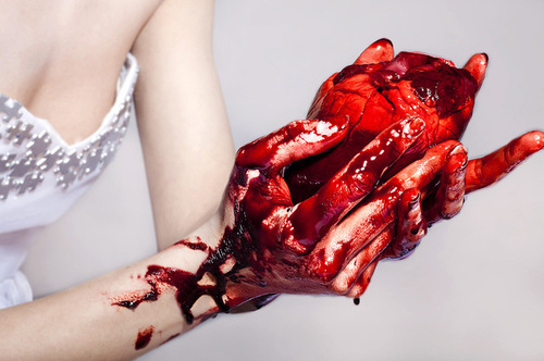 blood, broken, human heart, love, real heart - image ...