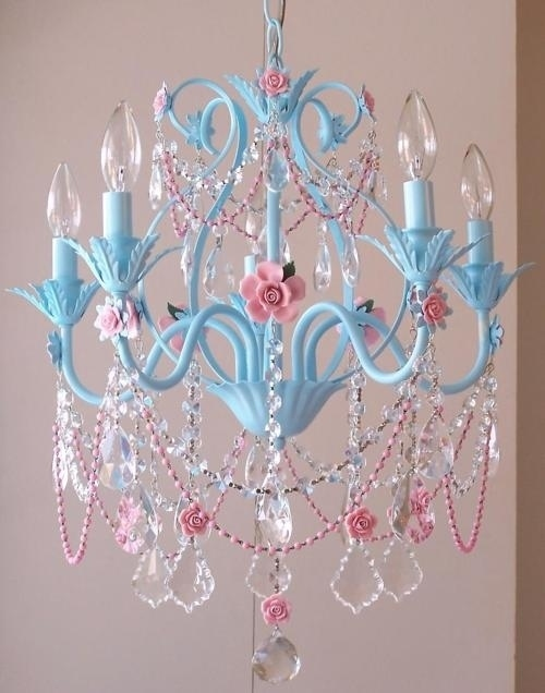 blue chandelier crystals design diamond image