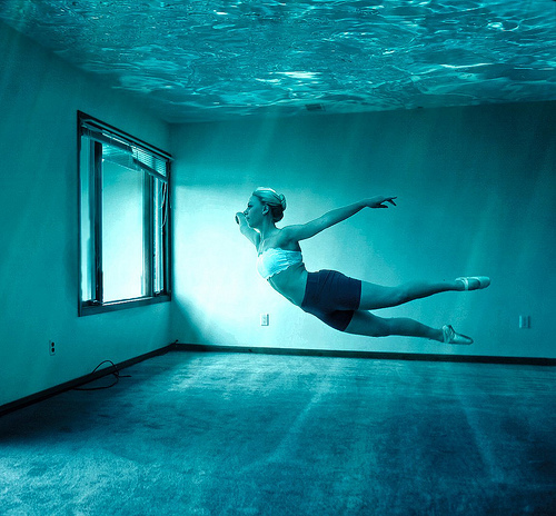 blue, dance, girl, photography, pretty, swimmer, underwater, water