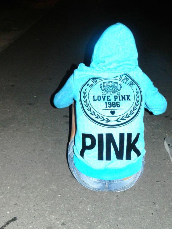 blue, girl, jean, love pink, night, pink, victoria secret