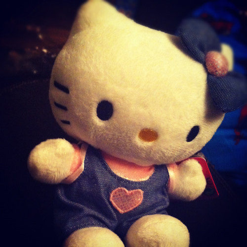blue, heart, hello, hello kitty, kitty