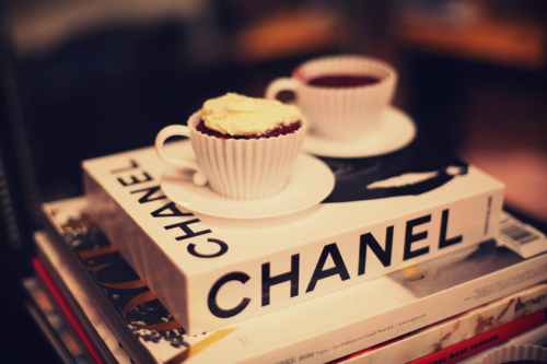 books, chanel, coffee and cup