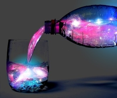 bottle, magical, water