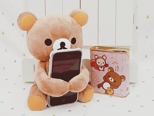 box, cute, doll, iphone, japan, japanese, kawaii, kiiroitori, korilakkuma, plush, rilakkuma, san-x