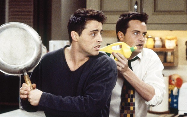 boys, chandler bing, friends, hair, joey tribbiani
