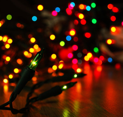 bright, christmas, colorful, decorations, lights