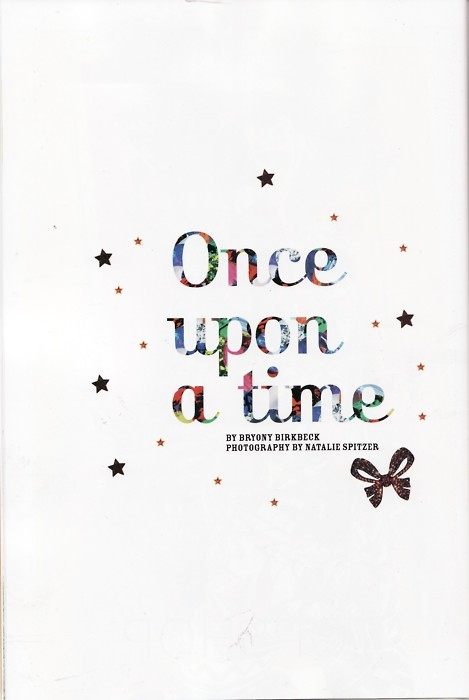bryony birkbeck, fairytale, illustration, once upon a time, story, typography