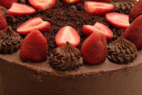 cake, chocolate, delicious, food, strawberry