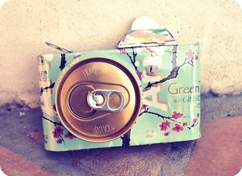camera, can, creative, creativity, fun, green, green tea, tea