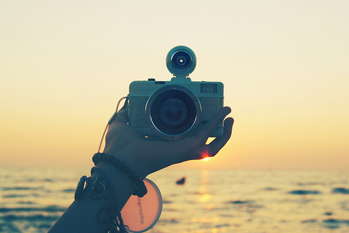 camera, ocean, sea