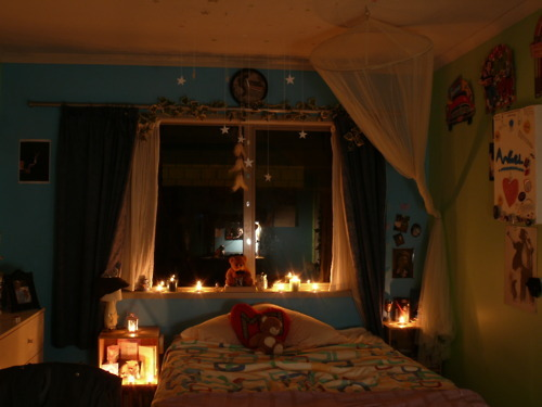 candles, girly, michael jackson, neverland, night, pretty, room, stars, teddy