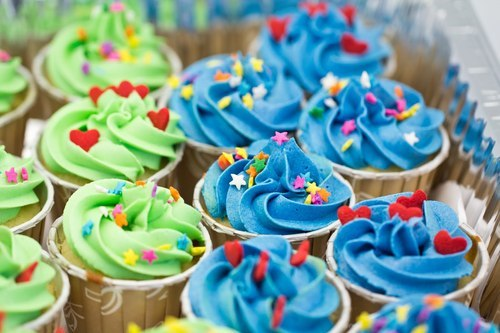 candy, colorful, cupcake, delicious, food