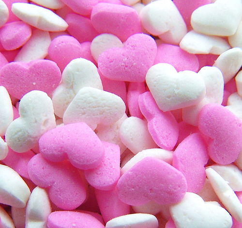 candy, heart, pink, sweet hearts, white