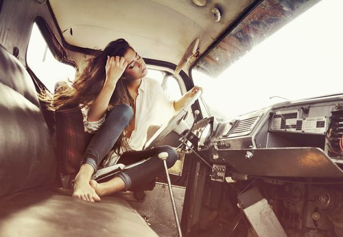 car, fashion, girl, photography, vintage